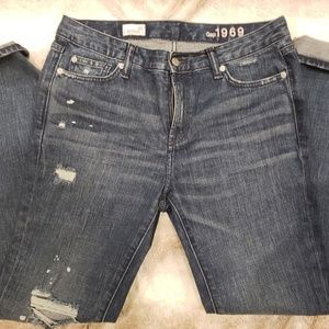 GAP Pants - GAP 1969 Real Straight Distressed Jeans